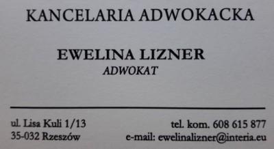 Adwokat Ewelina Lizner