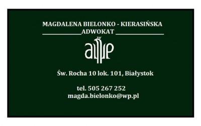 Adwokat Magdalena Bielonko